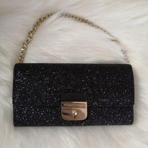 New Kate Spade Glitter Milou Clutch Purse